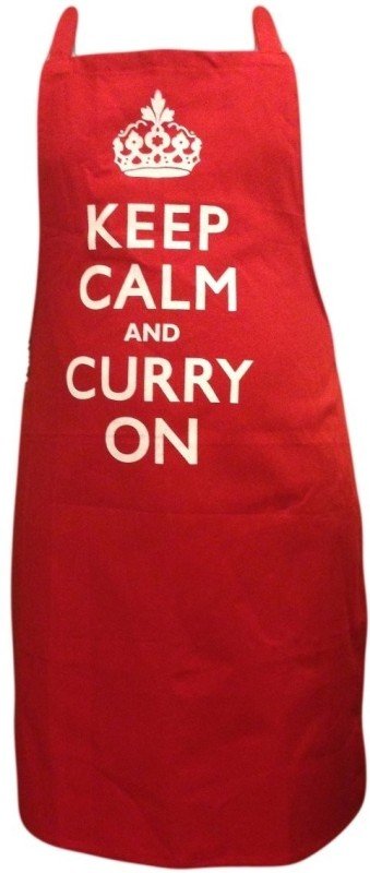Eco Corner Cotton Apron - Free Size(Red, Single Piece)