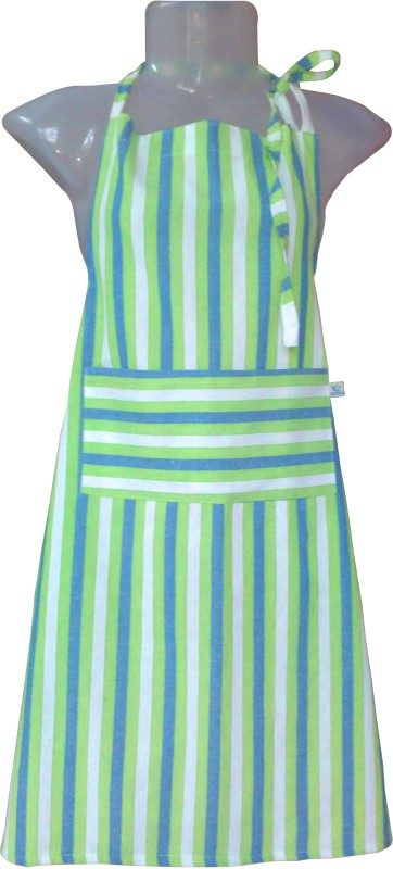 VKE Product Cotton Home Use Apron - XL(Green, Blue, Single Piece)