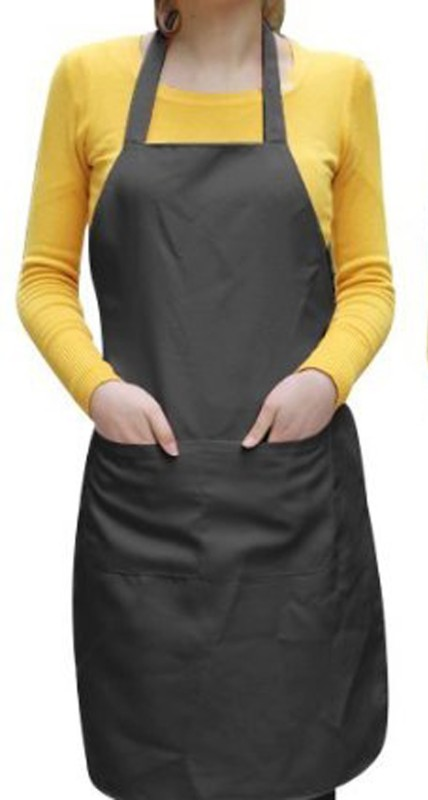 Airwill Cotton Home Use Apron - Free Size(Black, Single Piece)