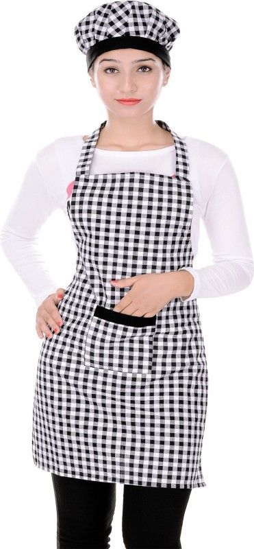SwitchOn Cotton Chef's Apron - Free Size(Multicolor, Single Piece)