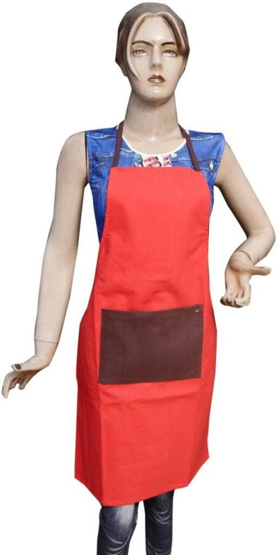 Shreejee Cotton Home Use Apron - Free Size(Multicolor, Pack of 2)