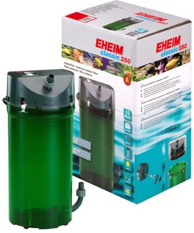 Eheim Classic 350 External Canister Aquarium Filter(Mechanical Filtration for Salt Water and Fresh Water)