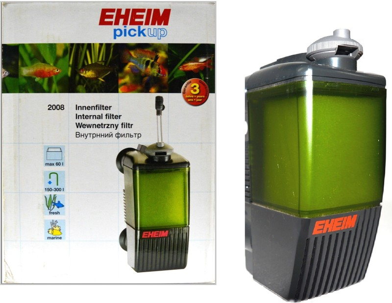 Eheim Pick Up 2008 Internal | Max 60 Liter (L/Hr - 150-300) Power Aquarium Filter(Mechanical Filtration for Salt Water and Fresh Water)