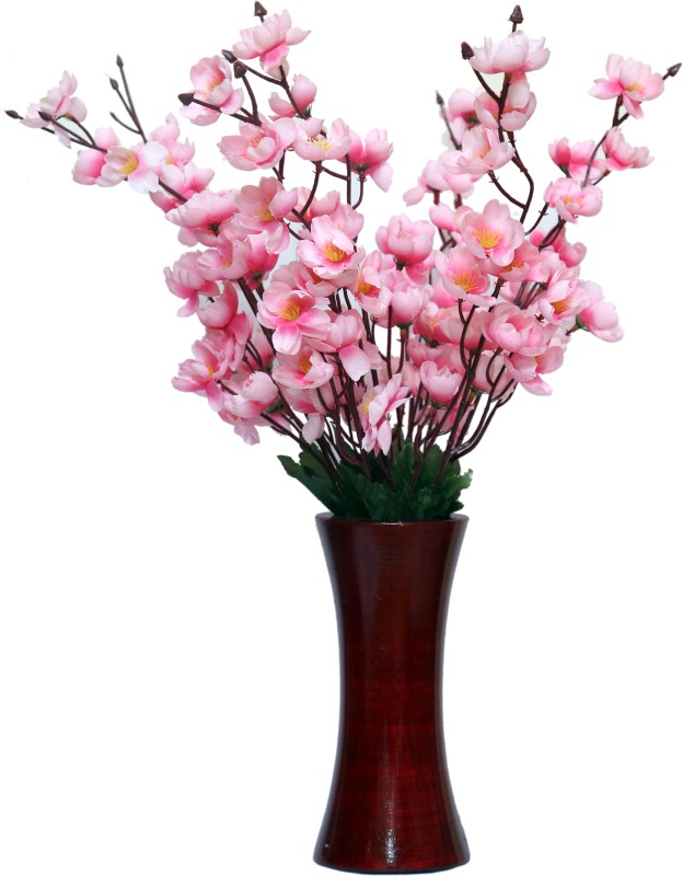 A2Z Street Pink Orchids Artificial Flower with Pot(22 inch, Pack of 1)
