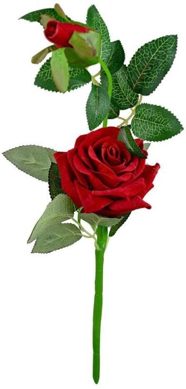 BriteNova Red Rose Artificial Flower(14.5 inch, Pack of 1)
