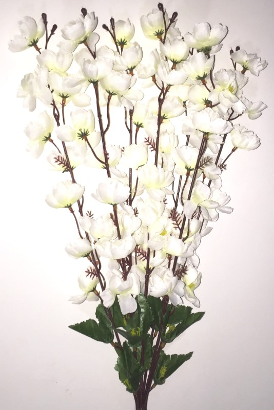 BriteNOVA White Orchids Artificial Flower(35.5 inch, Pack of 1)