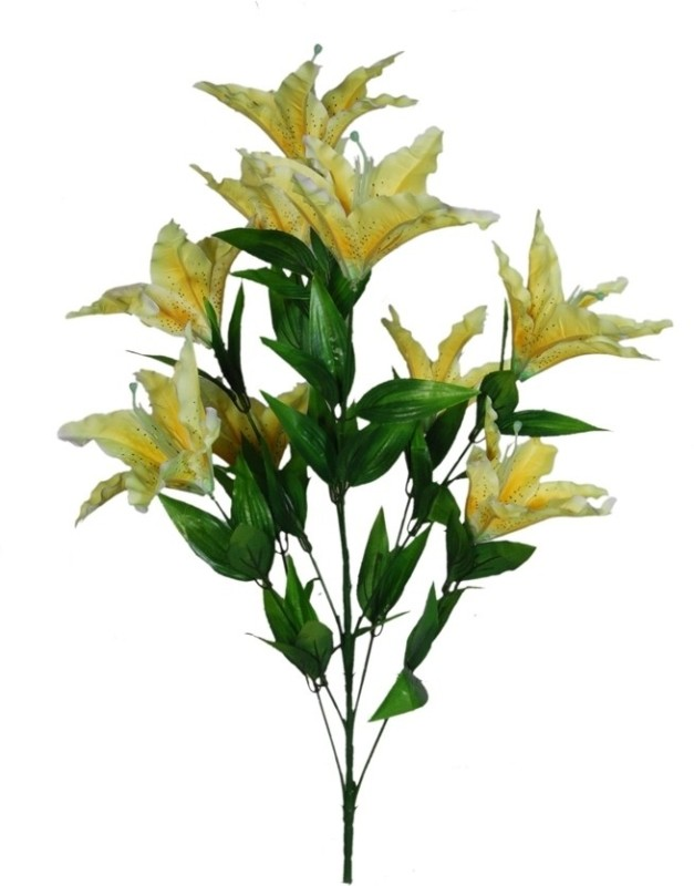 Orchard Yellow Lily Artificial Flower(30 inch, Pack of 1)