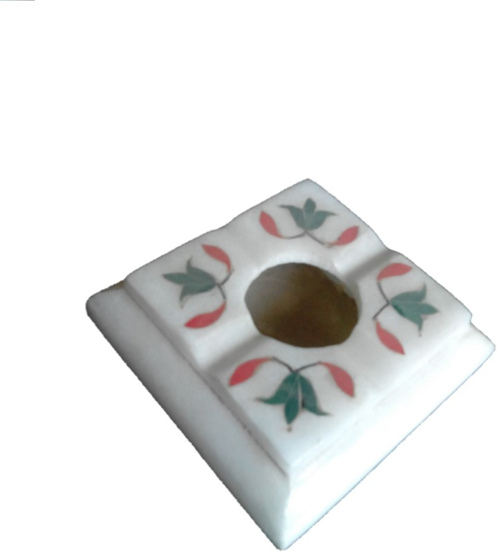 RM White Marble Ashtray(Pack of 1)
