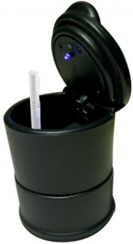 Auto Hub Black Plastic Ashtray(Pack of 1)