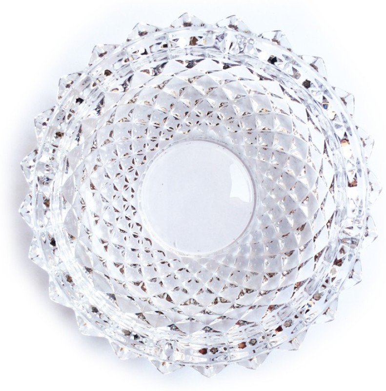 Emerald Clear Glass Ashtray