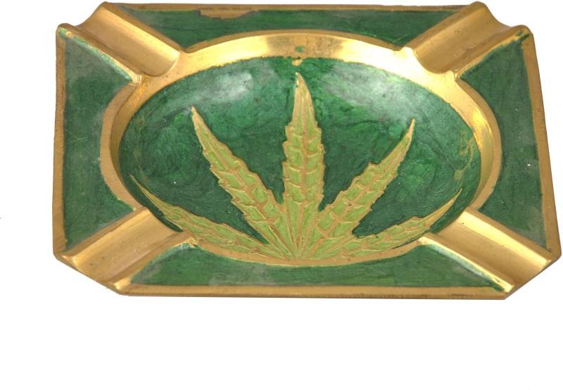 TRUE Green Brass Ashtray(Pack of 1)
