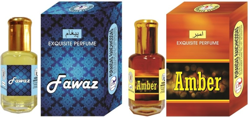 Purandas Ranchhoddas PRS Amber & Fawaz Attar 6ml Each Herbal Attar(Amber)