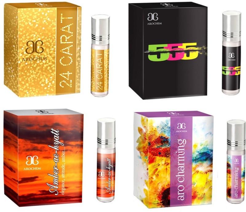 Arochem 24Carat 555 Amber ae hyatt Aro charming Combo Floral Attar(Floral)