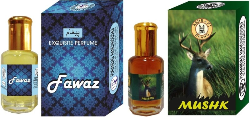 Purandas Ranchhoddas PRS Fawaz & Mushk Attar 6ml Each Herbal Attar(Musk)