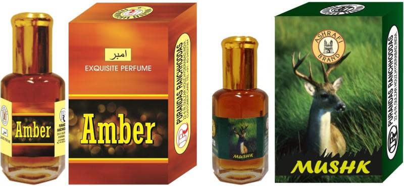 Purandas Ranchhoddas Amber & Mushk Attar 6ml Each Floral Attar(Amber)
