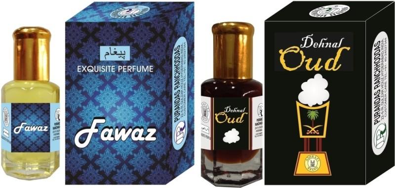 Purandas Ranchhoddas PRS Fawaz & Dehnal-Oud Attar 6ml Each Herbal Attar(Dehn el oud)