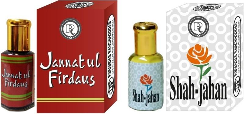 Purandas Ranchhoddas PRS Jannatul-Firdaus & Shah-Jahan 12ml Each Herbal Attar(Jannat ul Firdaus)