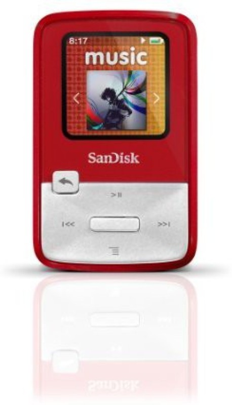 SanDisk SDMX22-004G-A57R 4 GB MP3 Player(Red, 12 Display)