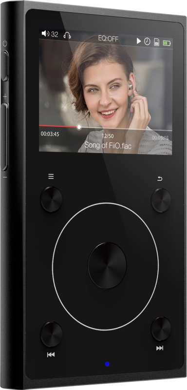 FiiO X1 II Lossless Bluetooth Hi-Res Lossless FX1221BK MP3 Player(Black, Grey, 2 Display)