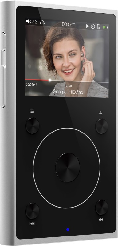 FiiO X1 II Lossless Bluetooth Hi-Res Lossless FX1221SV MP3 Player(Silver, 2 Display)