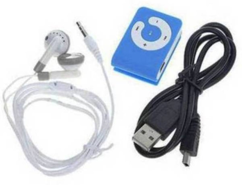 MINI Trueone 4 GB MP3 Player(Blue, 0 Display)