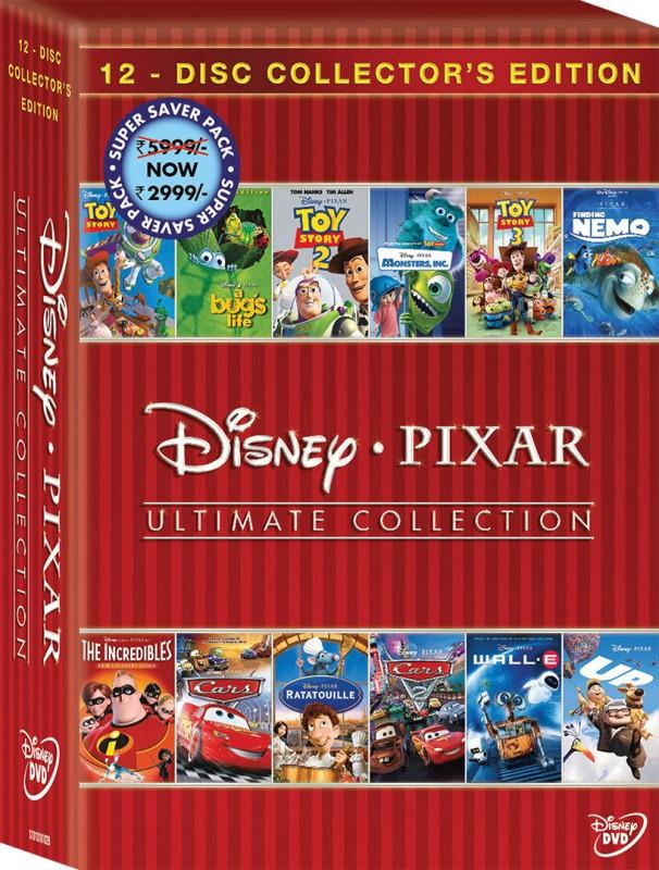 Disney Pixar: Ultimate Collection 12 Movies(English)
