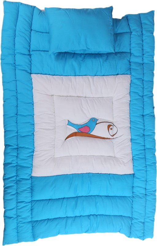 Jinglers Super Cotton Baby Carry Bed Xxl Crib Blue(Cotton:Polyester, Blue)