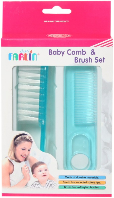 Farlin Baby Comb and Brush Set(Blue)