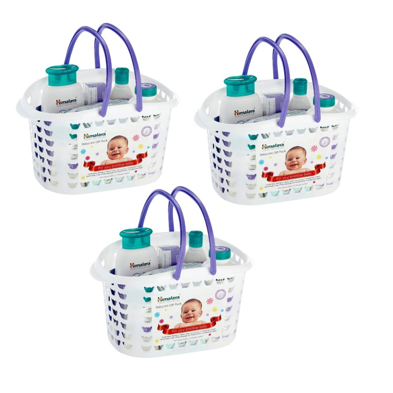 Himalaya Herbals Babycare Gift Basket Combo(White)