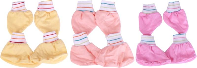 Jo Kids Wear Baby Accessories(Yellow,Light Orange,Pink)