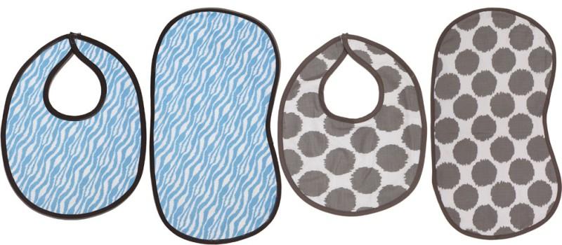 Bacati Bibs/Burpies(Blue)
