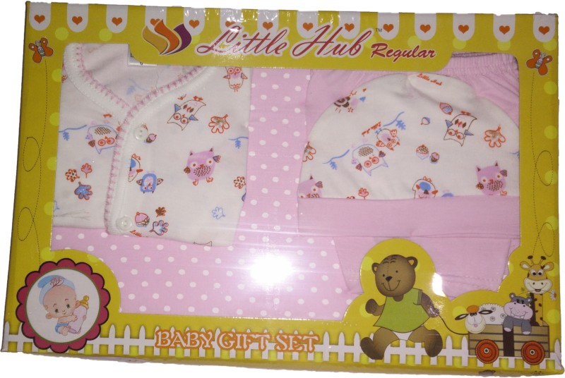 Little Hub New Born Baby Gift Set - Pink(Pink)