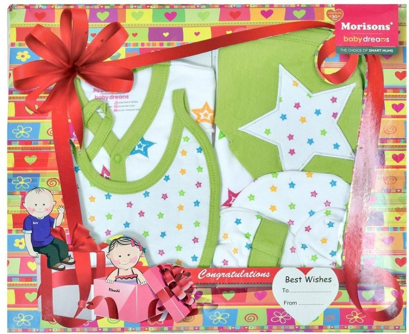 Morisons Baby Dreams Apparel Gift Box(Green)
