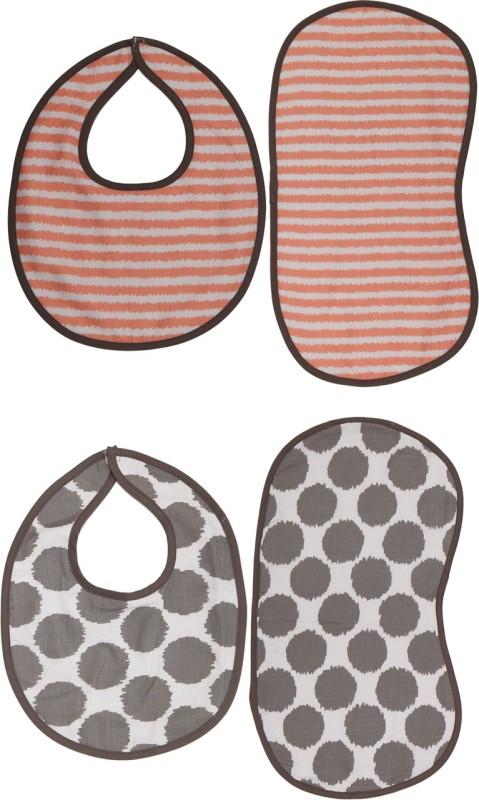 Bacati Bibs/Burpies(Grey)