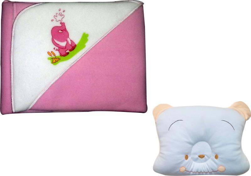 Xchildhood New born baby blanket,baby head pillow(Multicolor)