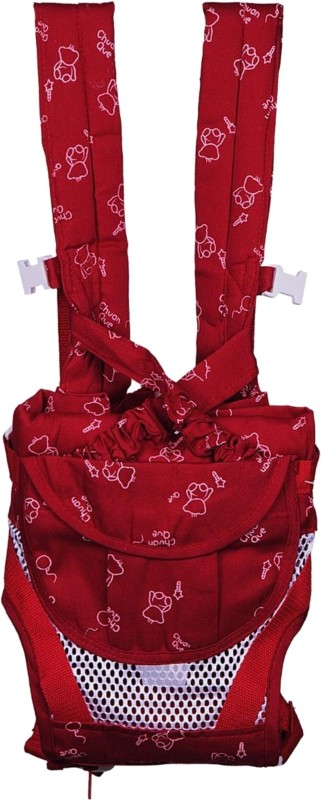 Chuan Que Teddy Print Baby Carrier(Red, Front Carry facing in)