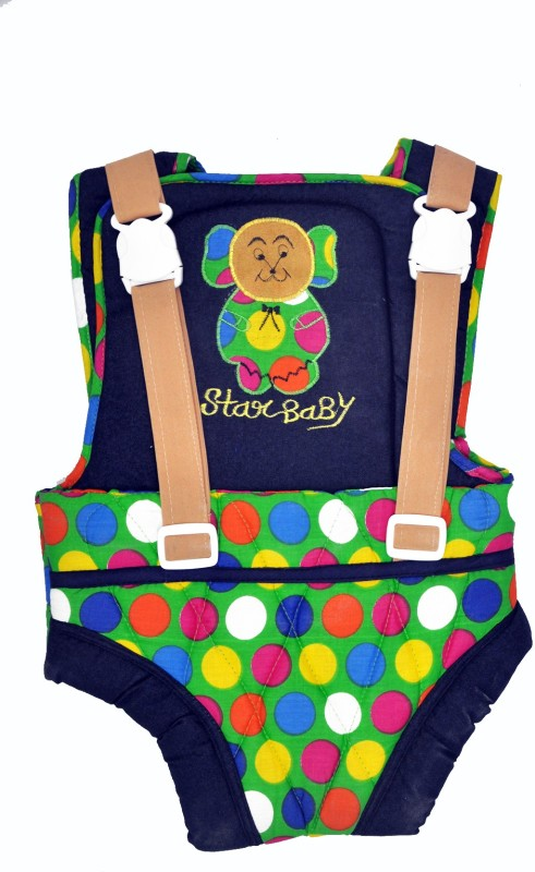 Jhankhi Baby Carrier Kangaroo Belt Sleeping Bag Dotted (Green) Baby Carrier(Multicolor, Front Carry facing in)