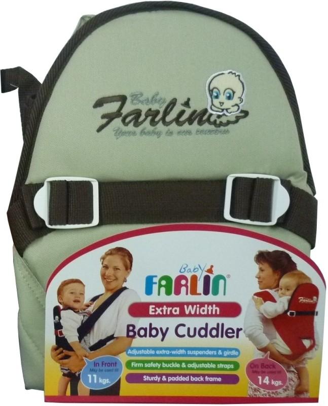 Farlin Baby Cuddler Baby Cuddler(Brown, Front Carry facing in)