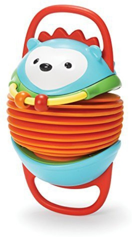 Skip Hop Explore and More Accordion Toy, Hedgehog Rattle(Multicolor)