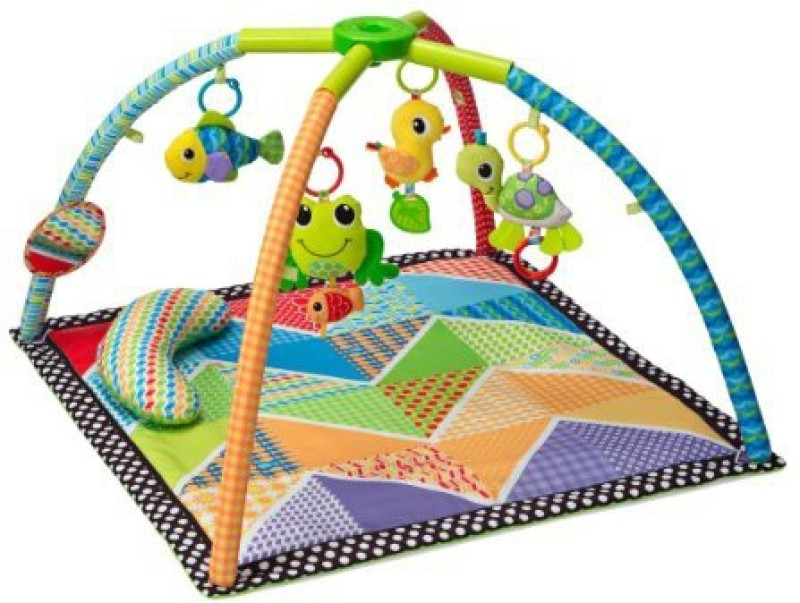 Infantino Pond Pals Twist and Fold Activity Gym and Play Mat Rattle(Multicolor)