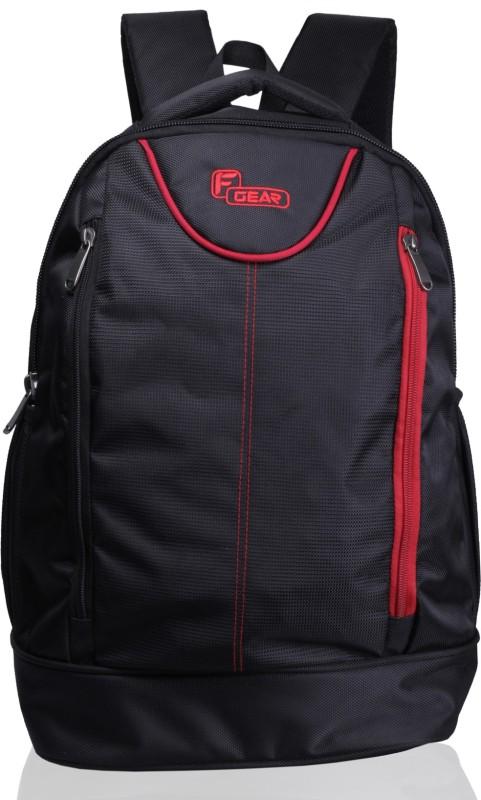 F Gear Booster Lite 29 L Laptop Backpack(Black, Red)