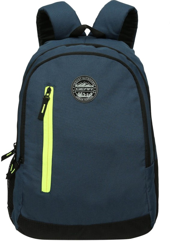Gear Eco 4 Navy Blue Green 18 L Backpack(Blue, Green)