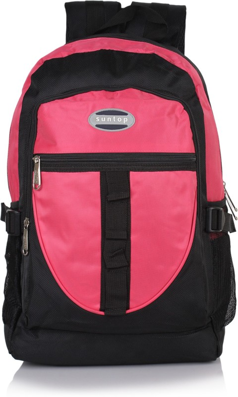 Suntop A44 22 L Backpack(Black, Pink)
