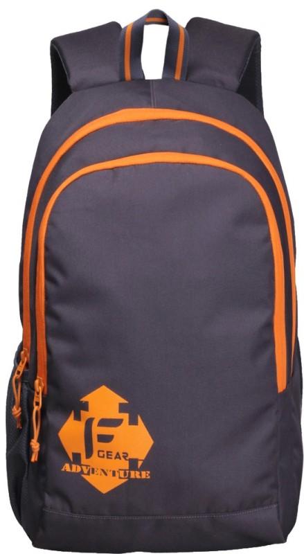 F Gear Castle V2 Rugged Base 20 L Backpack(Grey, Orange)