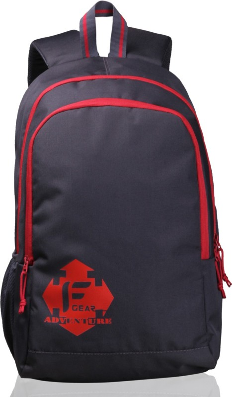 F Gear Castle - Rugged Base 27 L Backpack(Grey, Red)