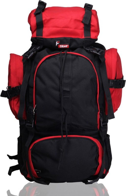 F Gear Neutron 43 L Large Backpack(Black, Red)