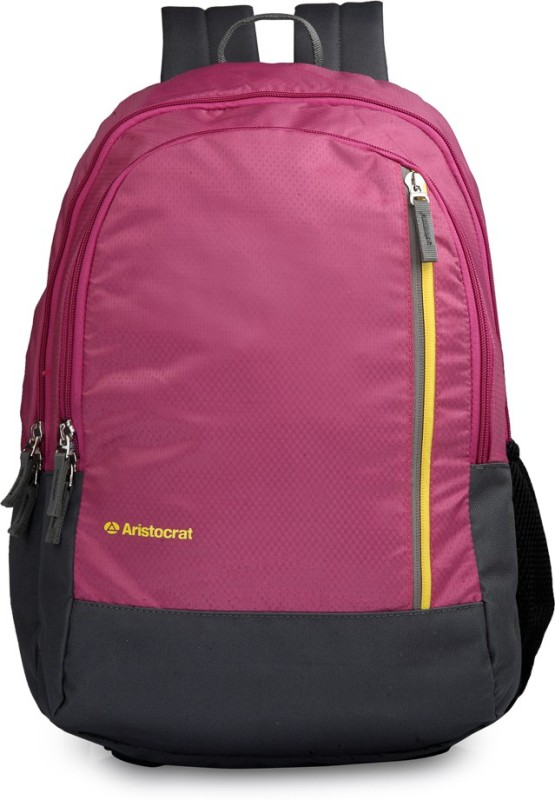 Aristocrat Pep 03 Purple 22 L Backpack(Pink, Black)