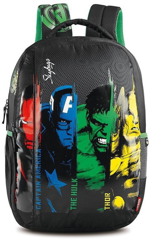 Skybags Avengers 01 Black 22 L Backpack(Multicolor)