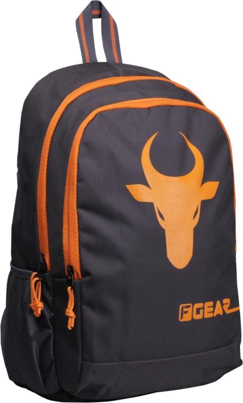 F Gear Castle - Rugged Base Bull 27 L Backpack(Grey, Orange)
