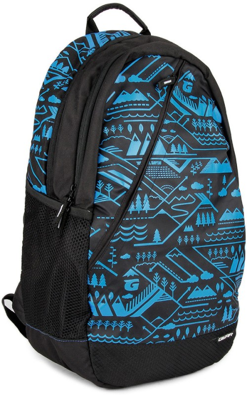 Gear Campus 1 22 L Backpack(Black, Blue)